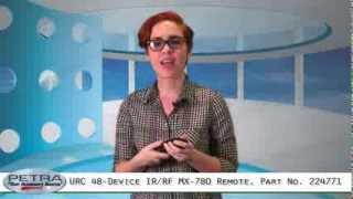 urc 48 device ir rf hard button mx 780 remote part no 224771