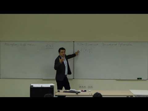 Computational Physics Lecture 14, Multi-Dimensional Unconstrained Optimization