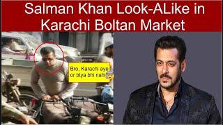Bollywood Actor Salman Khan Look ALike in Karachi Boltan Market Pakistan-Live 2019