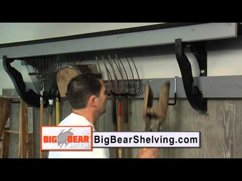 Garage Organization Ideas from Big Bear, Heavy Duty Shelf Brackets