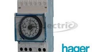 Programmation manuelle journali re de l 39 horloge s rie 1251 de finder watch the video - Horloge chauffe eau ...