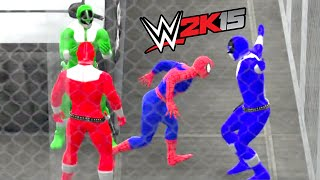 wwe 2k15 the amazing spider man vs power rangers epic battle