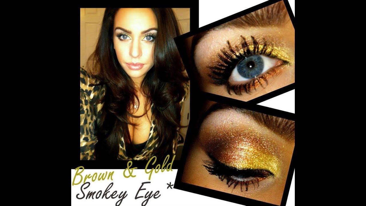 Makeup tutorial smokey eyes brown