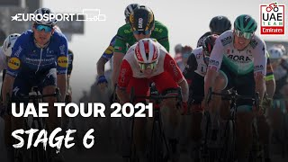 UAE Tour 2021 - Stage 6 Highlights | Cycling | Eurosport