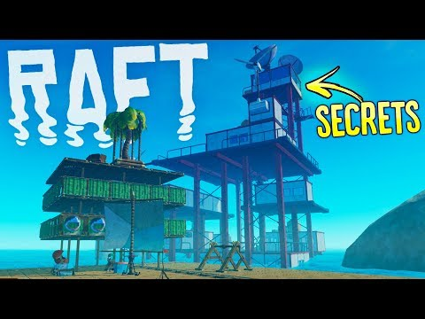 RAFT - Giant Radio Station Found! - Oasis Secrets Confirmed! - RAFT Gameplay Highlights