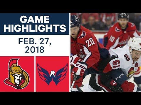NHL Game Highlights | Senators vs. Capitals - Feb. 27, 2018