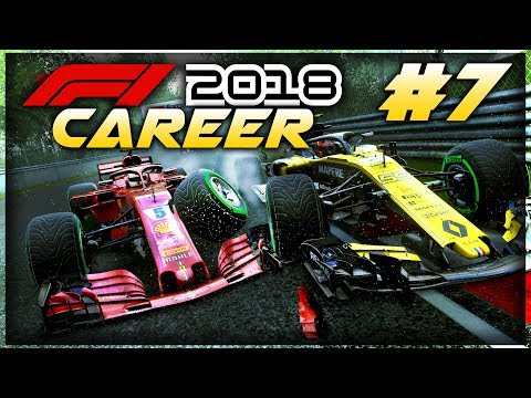 F1 2018 Career Mode Part 7: WET RACE CHAOS, SPINS & CRASHES IN CANADA!