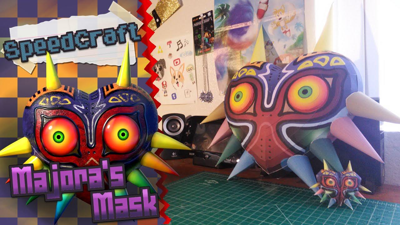the legend of zelda papercraft majoras mask youtube