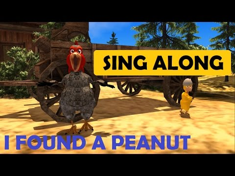 Sing along songs for kids children ❤ I found a peanut Song with Lyrics SMILEY BEAR TV