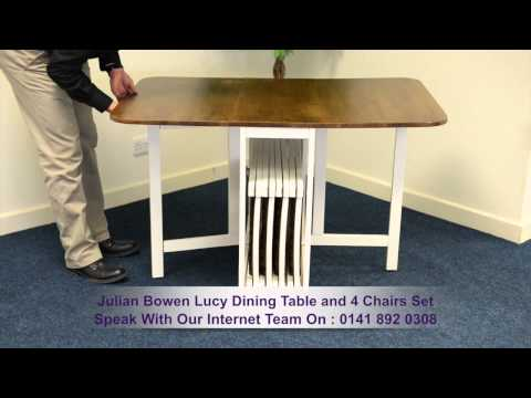 Julian Bowen Lucy Dining Table and 4 Chairs Set