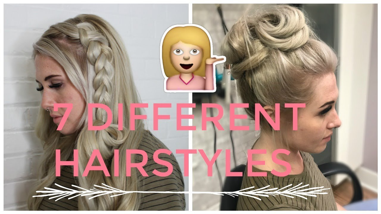7 Hairstyle Ideas Wearing Your Hair Up With Extensions Youtube