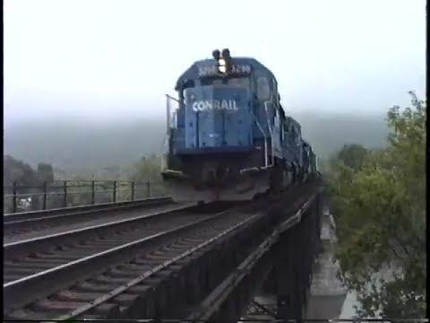 Conrail's Selkirk Branch.  Mohawk River Bridge.  July 25, 1992