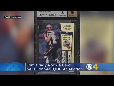 Tom Brady Rookie Card Sells For Record 400000 At Auction Youtube