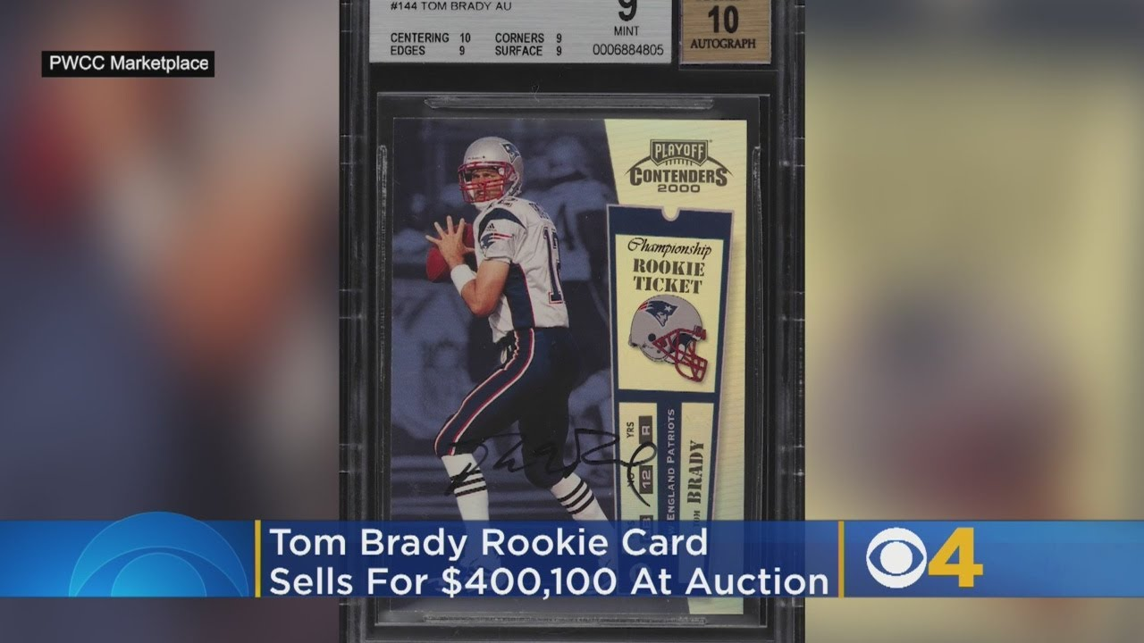 Tom Brady Rookie Card Sells For Record 400000 At Auction