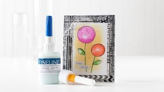 Quick Tip: FineLine Masking Fluid and Watercolor Card Idea