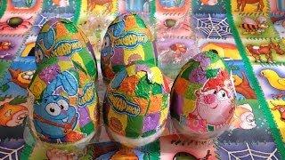 Smeshariki Surprise Eggs, Kikoriki, GoGoRiki, Смешарики Киндер Сюрприз
