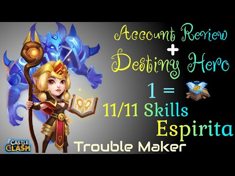 Account's Update || 11/11 Espirita Review By Trouble Maker Castle Clash