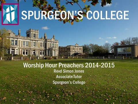 Revd Simon Jones preaches at Spurgeon's College