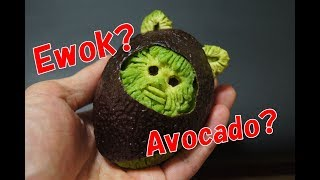 How to carve Avocado to Ewok/アボカドのイウォーク/スターウォーズ thumbnail