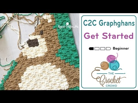 Crochet C2c Beginner Graphghans Tutorial The Crochet Crowd