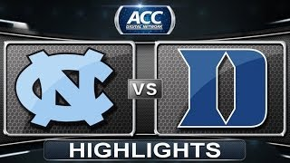 North Carolina vs Duke | 2014 ACC Basketball Highlights