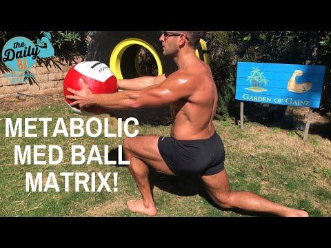 METABOLIC MED BALL MATRIX! | BJ Gaddour Medicine Ball Fat Loss Core Workout