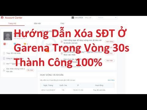 Hướng Dẫn Xóa Số Điện Thoại Ở Garena Thành Công 100%