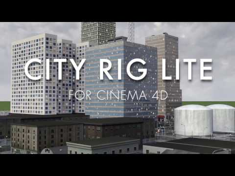 City Rig – Cinema 4D city generator for with street level detail