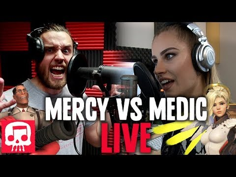 Mercy vs Medic Rap Battle LIVE by JT Machinima