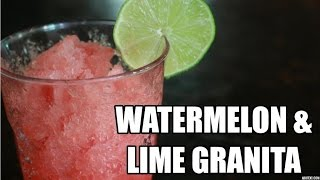 DIY Watermelon & Lime Granita