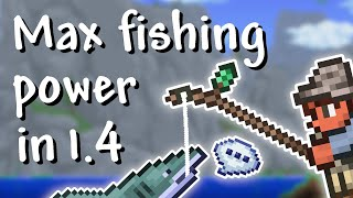 Terraria - 1.4 Maxİmum Fishing Power (have a catch every second!)