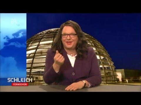 "Comedy: Helmut Schleich im Interview mit ""Andrea Nahles"""