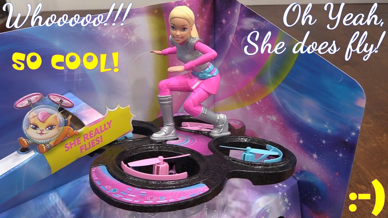 Toys for Little Girls Barbie RC Flying Hoverboard A Remote
