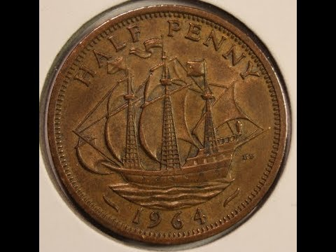 Half Penny coins of Great Britain Part 2