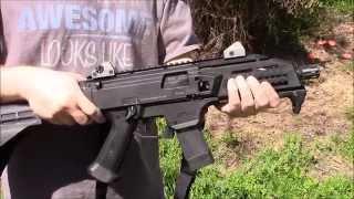 cz scorpion evo 3 9mm pistol with brace review
