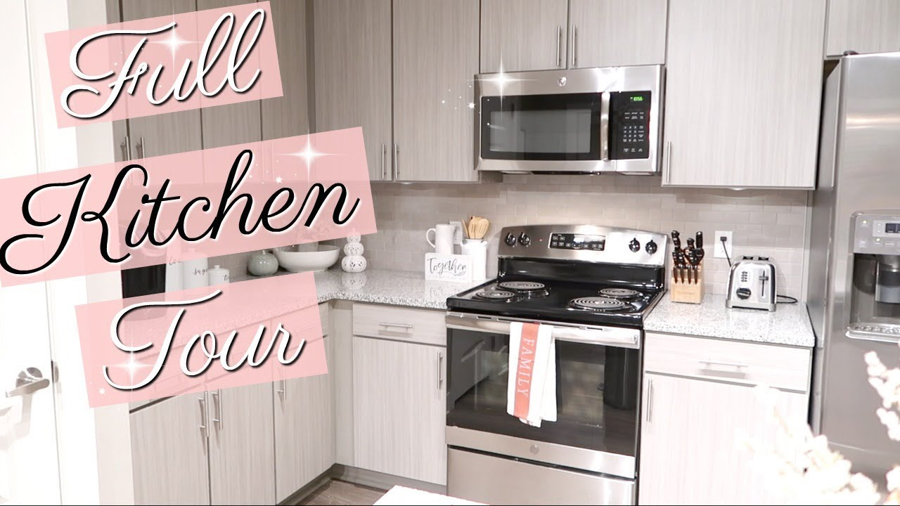 Apartment Kitchen Tour 2018 Kitchen Organization And Decor Youtube