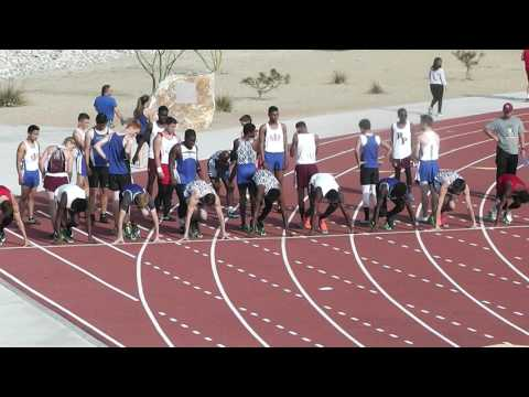 4 APRIL 2017 BOYS 100M (1) SILVER VALLEY HIGH SCHOOL TRACK AND FIELD