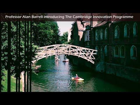 Professor Alan Barrell introducing The Cambridge Innovation Programme