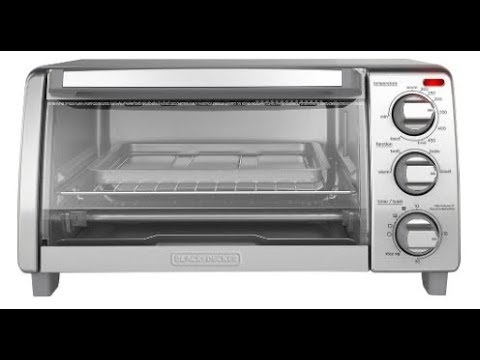 Black+Decker 4-Slice Toaster Oven  Quick Unboxing And Test