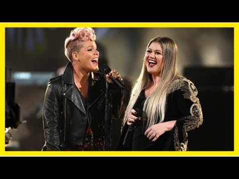 Clarkson, pink honour victims of hurricanes, violence at amas