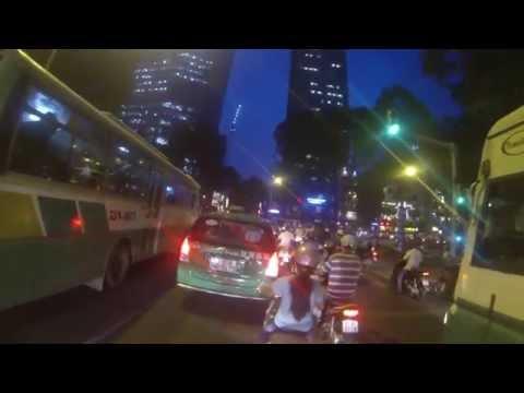 Vietnam by night - Traffic in HCMV (Motorbike - GoPro HD).