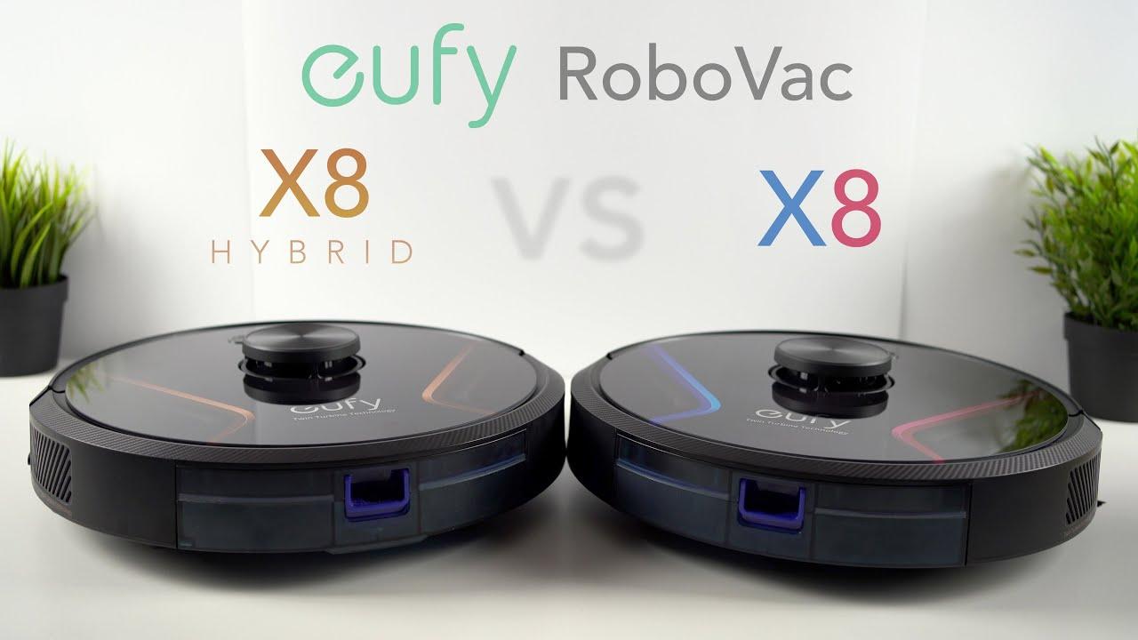Download Eufy RoboVac X8 vs X8 Hybrid | Robotic Vacuum Cleaner In-Depth Review