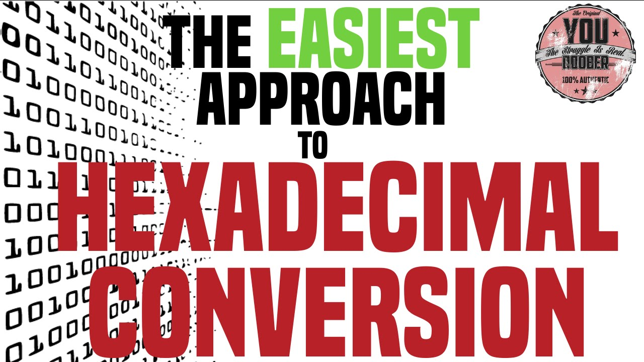 how to easily convert hexadecimal to binary and to decimal tutorial