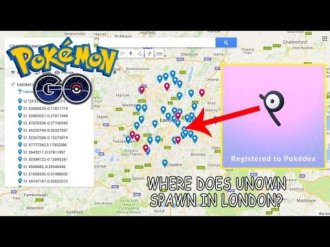 POKEMON GO: WHERE DOES UNOWN SPAWN IN LONDON? - YouTube
