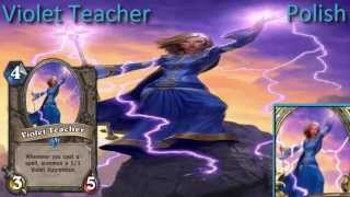 Violet Teacher card sounds in 12 languages -Hearthstone✔