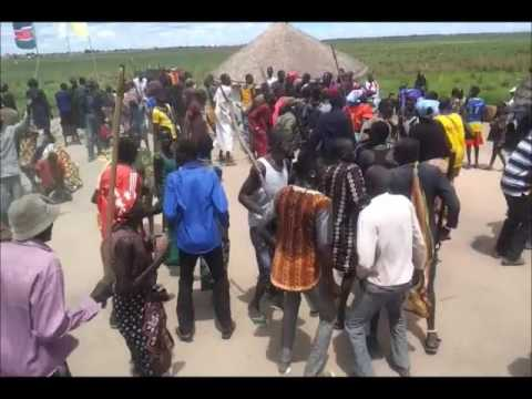 DANCING AND REFLECTION IN JALLE PAYAM, BOR COUNTY, JONGLEI STATE SOUTH SUDAN 20/04/2015.