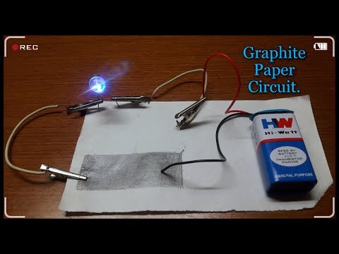 """✔How to make a """"Paper Circuit"""" to glow a L.E.D?💡"""