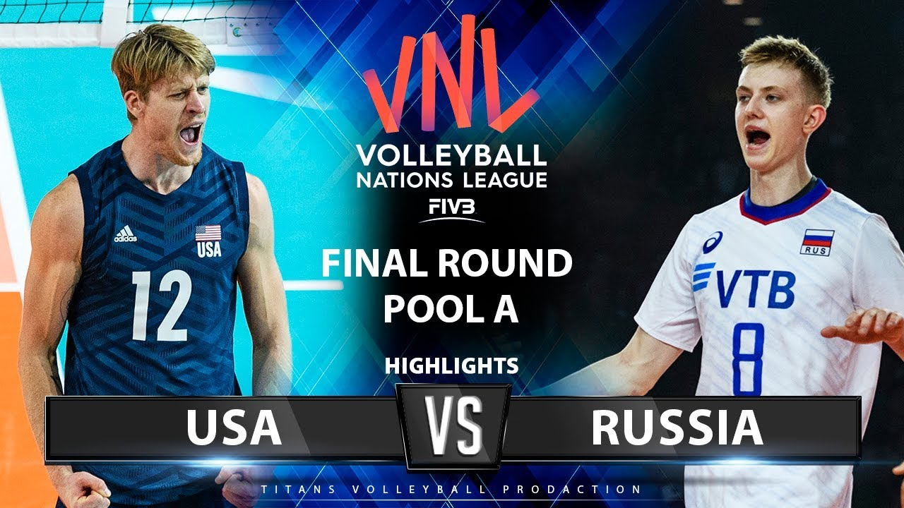 Usa Vs Russia Highlights Final Round Pool A Men S Vnl 2019 Youtube