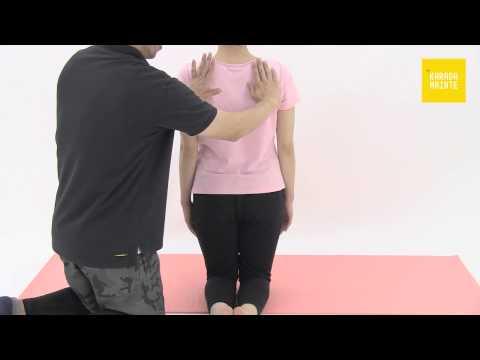 12菱形筋のストレッチ指導法