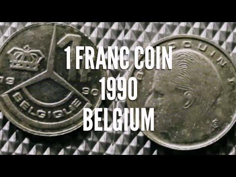 1 Franc Coin 1990, Belgium